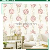 economic foaming non woven wallpaper, orange country blossom wall sticker for kindergarten , sound-absorbing wall decor shop
