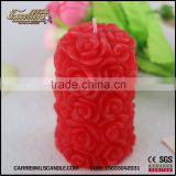 rose pillar shape wedding candle wholesale -carrie-0086 15633042031