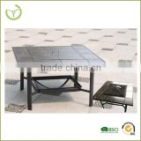 Garden treasures fire pit set-2014 hot sell square coffee table/outdoor fire pit with chimney