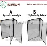 Three panels with 6 views types of plastic folders types of plastic folders