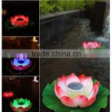4pcs lotus lanterns led solar light, waterproof underwater lights, garden floating pool outdoor lighting