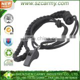 With lanyard Black law enforcement plastic army trainning whistle