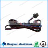 Automobile cable JST SMP-03V-BC to open with UL1007 26AWG black red blue glued wire cable harness