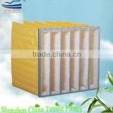 Central air conditioner bag filter media