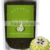 Mendior Organic ground coffee and soursop deep sea salt body scrub,OEM custom brand,200g