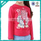 Kids cute tshirt print,Tom and jerry t shirt animal,girls red long tshirt stock(lyt070018)