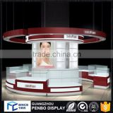 Luxury quality wooden standing round nail bar kiosk for manicure