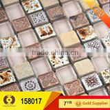 Home decoration wall art marble stone mosaic tile price (158017)