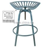 Esschert Design tractor shaped adjustable vintage industrial cast iron stool bar chair