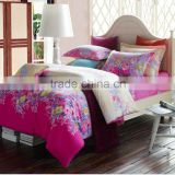 fashion100% cotton fantastic coloful beautiful dreamlike bloom floral bedding set duvet cover