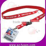 2016 new fashion Free Sample promotional polyester lanyard with clear plastic ID card holder