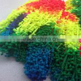 space dye nylon changing pom pom fringe tassel rainbow trim pon pon trims