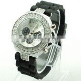 silicone diamond watch swiss geneva watch