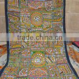 indian mirror work wall tapestry