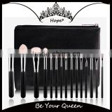 OEM Professional 15pcs Top Quality Goat Hair Makeup Brush Set                                                                         Quality Choice