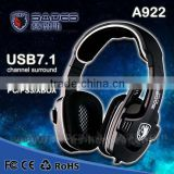High Quality SADES SA922 3 in 1 Gaming Headset 7.1 Surround Sound Effect USB Game Headset with Mic for PC PS3 XBOX                                                                         Quality Choice