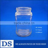 480ml wholesale lead-free transparent cheap glass canning jar                                                                         Quality Choice