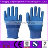 flexible natural latex labour safety gloves