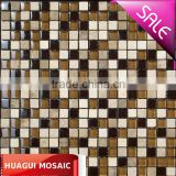 Beige stone mosaic mix glass seed mosaic tiles HG-815417