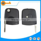 universal key shell case house parts with Round head and logo flip car key cover for VW golf 3 4 5 6