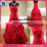 E Elegant sweetheart neckline ball gown beautiful beautiful red wedding dresses