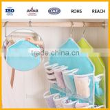PVC+Polyester 16 Pockets Over Door Cloth Shoe Organizer Hanging Hanger Closet Space Baby Shoe Storage Bag