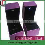 wedding ring box custom jewelry gift box set with wholesale price jewelry packaging box manufacturer