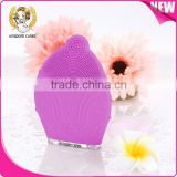 Rechargeable sonic cleansing device, sonic facial brush cleanser, silicone facial brush for face cleanning