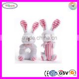 C344 New Arrival Premium Quality Soft Rattle Plush Toy Pink Baby Girl Gifts Cheap Soft Toys