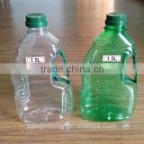 Transparent / dark green Plastic oil Bottle & oil container/PET cooking oil bottle for wholesales