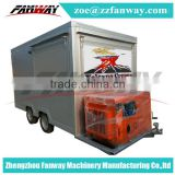 Ice cream trailer fast food kiosk/Street Vending Carts/ Mobile Fast Kiosk/Mobile Food Trailer Newest ice cream cart for sale