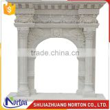 China cheap indoor freestanding white marble fireplace mantel NTMF-F858S