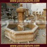 garden antique carved stone wall water fountain for sale