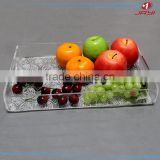 Customized wholesale acrylic fruit tray decorations clear plastic cake tray with special figure