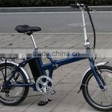 36V 250W CE mini foldable aluminum alloy suspension fork electric folding bike