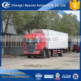 JAC 25 ton 6*2 40 45 cubic meters freezer body 266hp meat hook refrigerator truck