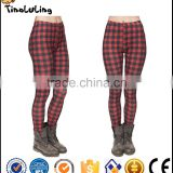 Bulk Custom Wholesale Elegant Cheap White Black Check Pattern Lattice Print High Waist Slimming Baggy Fat Women Hiking Pants