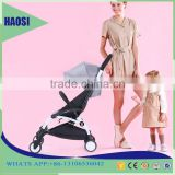 China manufacutured aluminium alloy light baby stroller