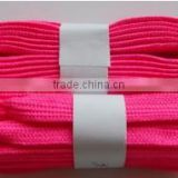 New! Double Layer 24colors high quality flat cotton material shoelace for sports shoes, shoes accessories