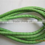 Solid Color Round Leather Cord Rope String For Necklace Bracelet Making