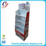 Regular design flooring cardboard display for snack