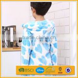 wholesale cheap white cute animal personalized embroidery hooded kids bathrobe