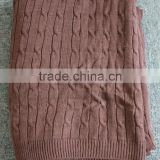 Cable knitted throw