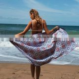 Large size digital reactive print full custom design hotel summer beach bath towel with velour microfiber material