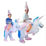 Halloween Inflatable Costumes Lyjenny Unicorn Rider Animal Riding clothing dress for Adults and Kids Ride On Costume