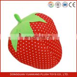 custom stuffed strawberry plush fruit soft toy