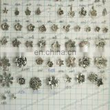 Wholesale DIY Jewelry Accessories Vintage Style Antiqued Bronze Tone Alloy Lovely Rose Flower Pendant Charms