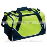 double-use tarpaulin duffel bag in orange outdoor sports gym travel bag