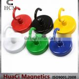 A Pack of 6 of 18 LB Holding Power Ceramic Magnetic Hooks
