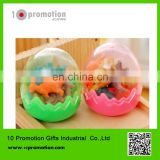 creative stationery rubber /colorful Dinosaur eggs Eraser for children study